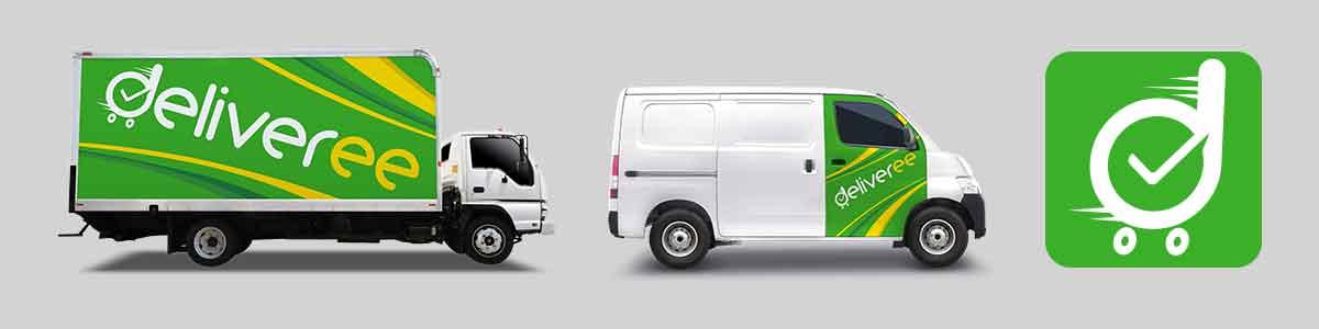 Stiker Truk Mobil d Hijau og