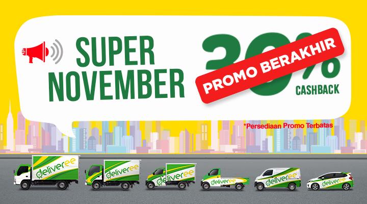 deliveree,promo november,deliveree promo,aplikasi jasa pengiriman barang,logistik jakarta