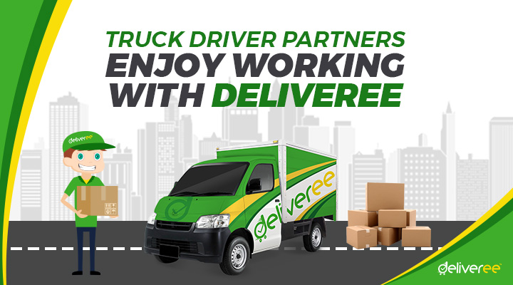 Deliveree, Deliveree App, delivery service, sewa truk engkel (rent axle truck), Jakarta courier service, logistic partner,
