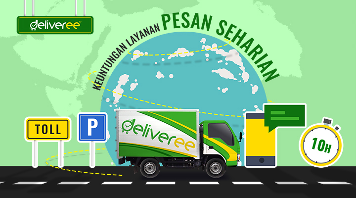 Deliveree,partner logistik,sewa truk engkel,lokasi kami