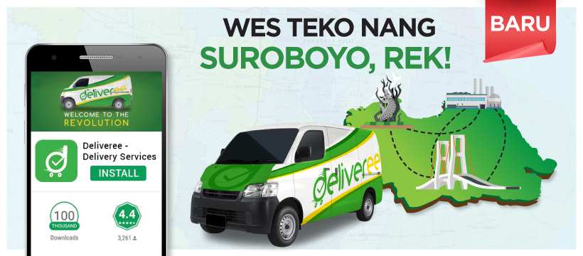 Deliveree,Deliveree Surabaya,Delivery Service,Delivery App,Surabaya Logistics,Surabaya Cargo,Surabaya Truck Rent