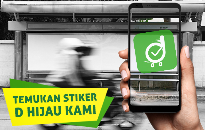 Deliveree,D kotak hijau, stiker hijau Surabaya, stiker hijau Sidoarjo, stiker hijau Gresik