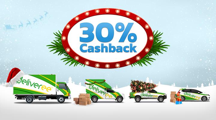 30% Cashback Image - Deliveree TH