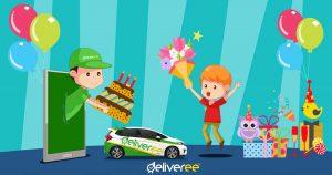 บริการส่งเค้กวันเกิด ส่งดอกไม้ด้วยรถเก๋ง ส่งของด่วนวันเด...