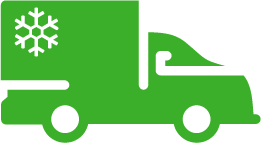 Chilled Truck Green Icon